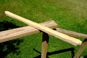 DIY perches: homemade macaw perch from 2x4 lumber
