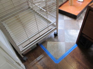vinyl flooring for under the cage