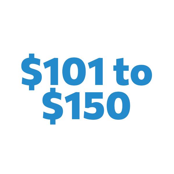 $101 to $150