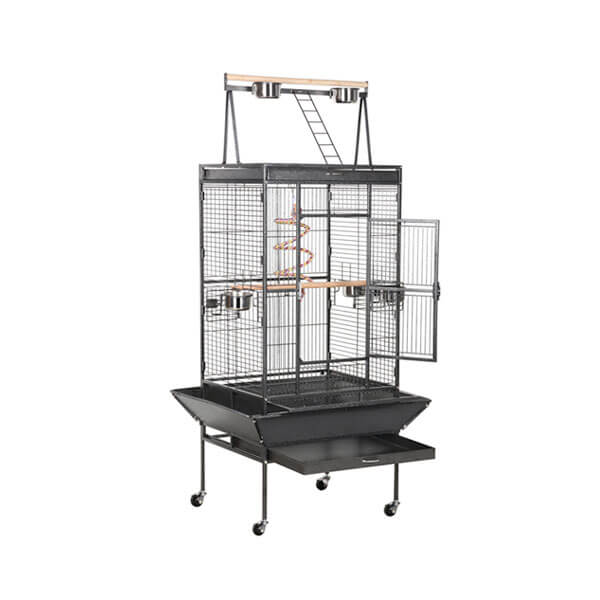 A large cage for large birds