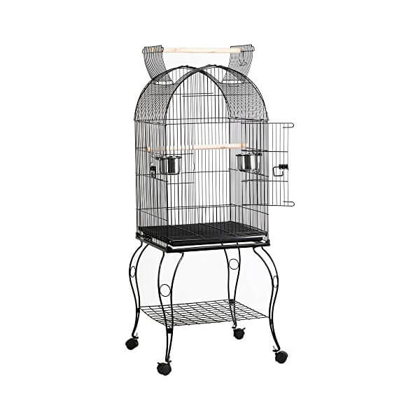 A cage for medium sized birds.