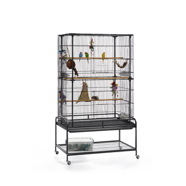 A cage for small birds